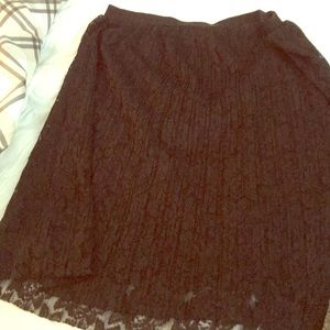 Black lace skirt Maurices XL